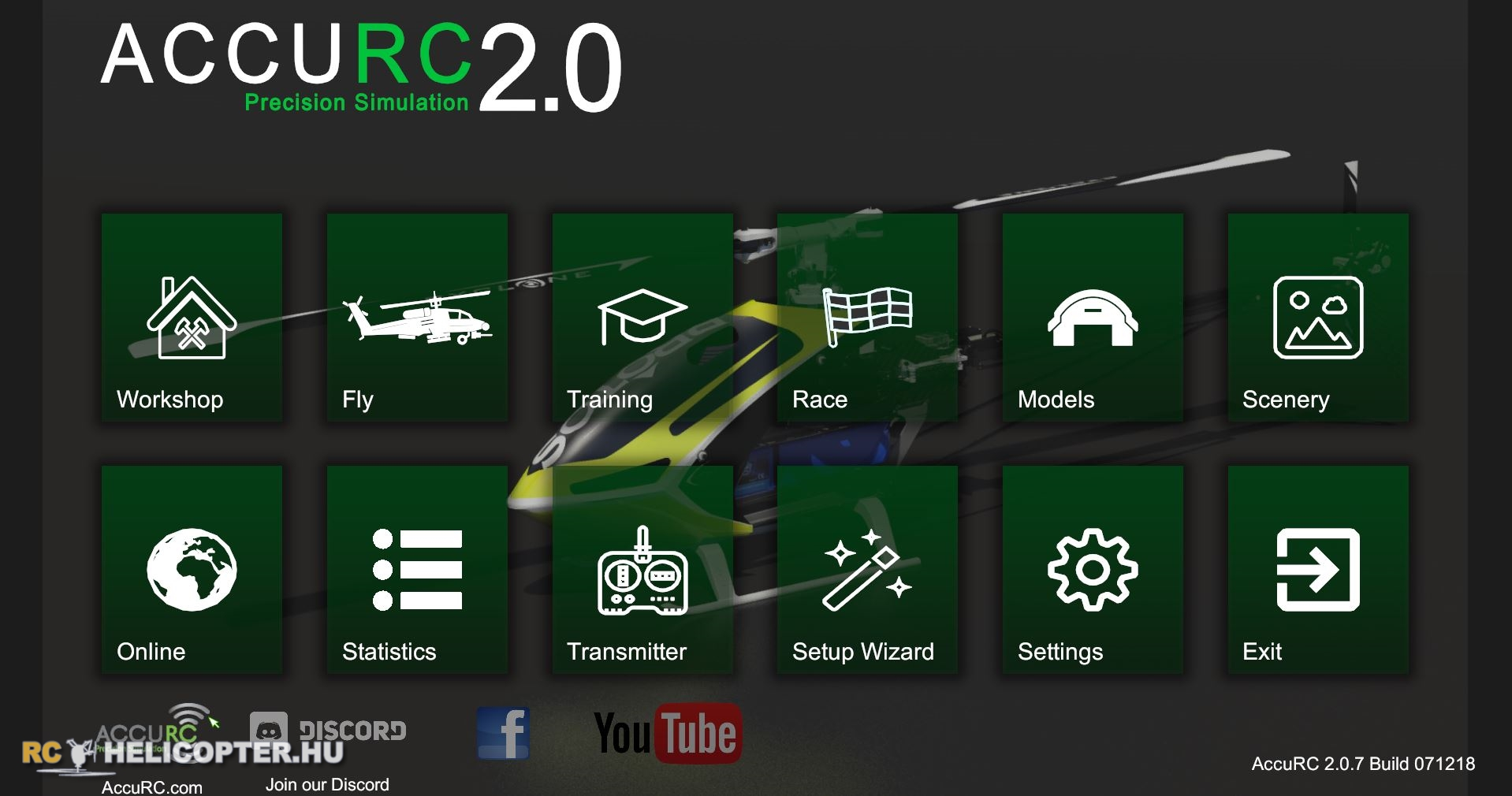 AccuRC main menu