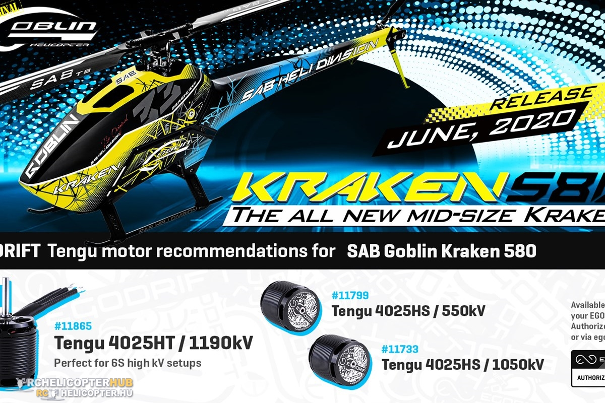 Egodrift Tengu motors for Kraken 580