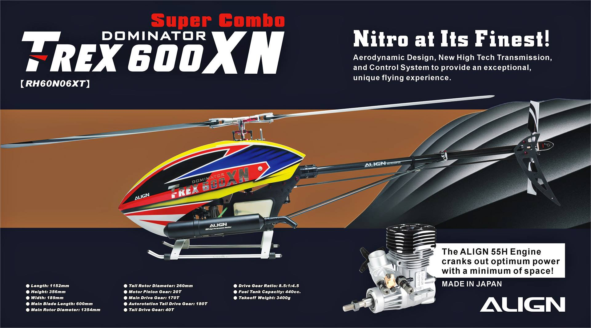 The new T-Rex 600 XN Dominator