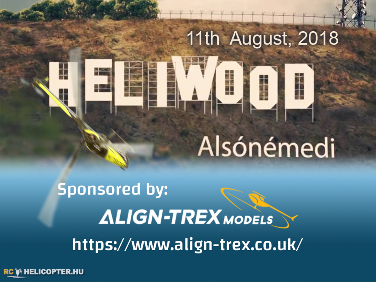 Heliwood to be sponsored by Align-TRex Models